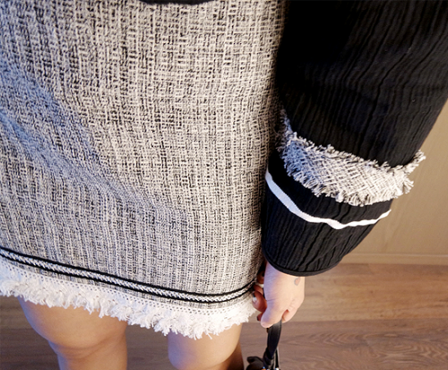 Pop-tweed skirt