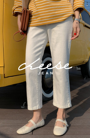 Cheese Jean (ver.로우화이트)[size:S,M,L,XL / 1color]